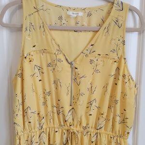 Light yellow, flower dress